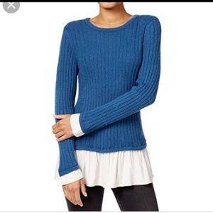 Kensie sweater Ruffle Tunic